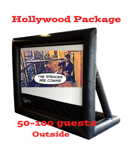 Hollywood Package 3 Metre Inflatable Cinema: 50-100 guests (Outdoor)