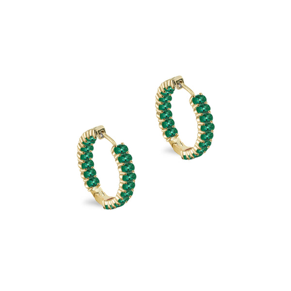 THE COLORED HOOP IN EMERALD