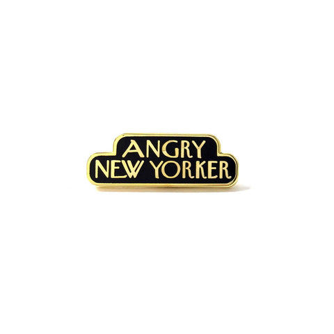 ANGRY NEW YORKER PIN