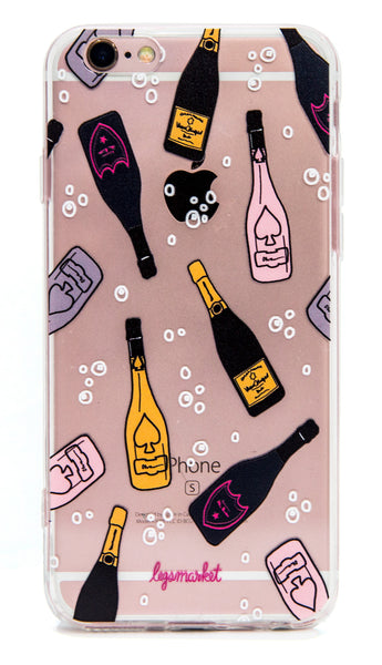 BUBBLY CASE - LEGSMARKET - Champagne iPhone Case - cute phone case