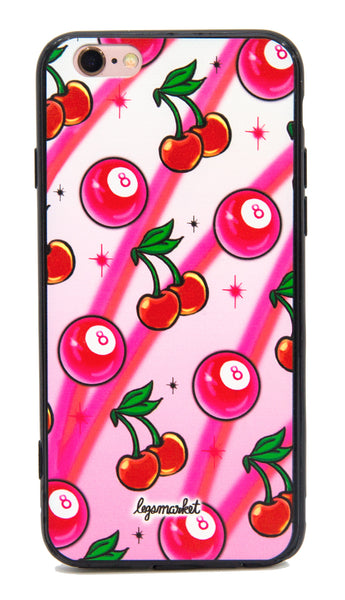 CHERRY 64 CASE - LEGSMARKET - cherry iPhone Case - 8ball -cute phone case - cherry