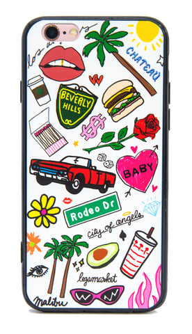 HILLS CASE - LEGSMARKET - Los angeles iPhone Case - cute phone case - LA phone case - beverly hills iphone - palm tree phone case