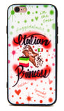 ITALIAN PRINCESS CASE - LEGSMARKET - italian iPhone Case - cute phone case - princess phone case - italian girl -italian girl phone case