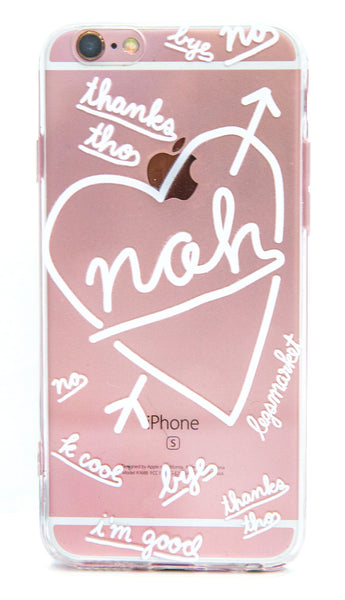 NAH CASE - LEGSMARKET - Nah iPhone Case - cute phone case - handwriting phone case - nah case - no phone case - attitude phone case