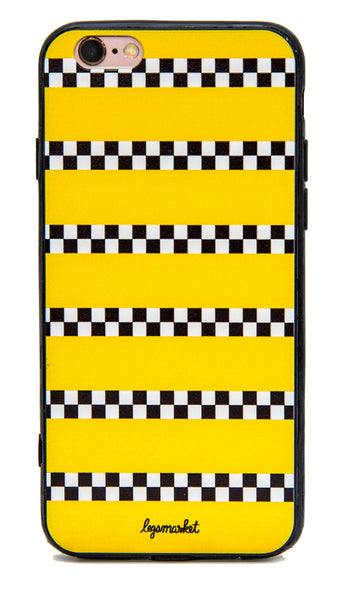 TAXI DRIVER CASE - LEGSMARKET - New York iPhone Case - cute phone case - nyc phone case - taxi cab phone case - checkers - checker iphone case - checker phone case