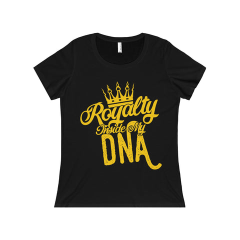 Royalty Inside My DNA Women's Relaxed Jersey Short Sleeve Scoop Neck Tee