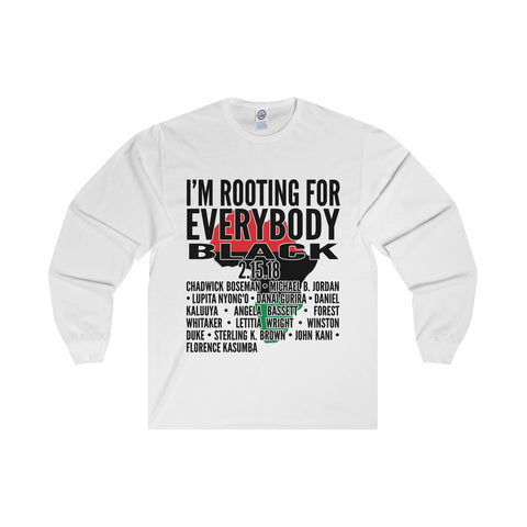 """Everybody Black"" Africa Long Sleeve Tee"