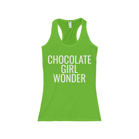 Chocolate Girl Wonder Junior Tank