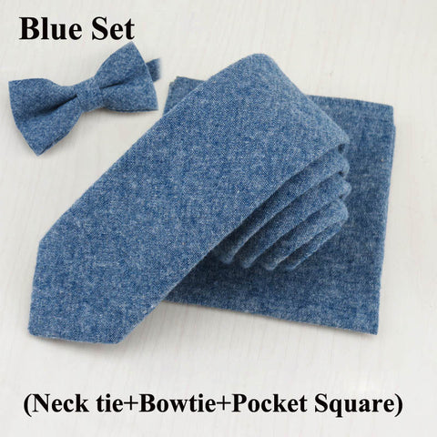 Blue set for stylish men.