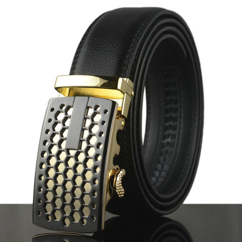 14 style Genuine leather belts with automatic buckle.