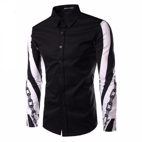 A-Designer men's shirt with long sleeves.