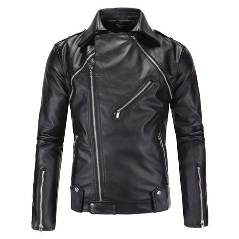 Motorcycle men's leather jacket.