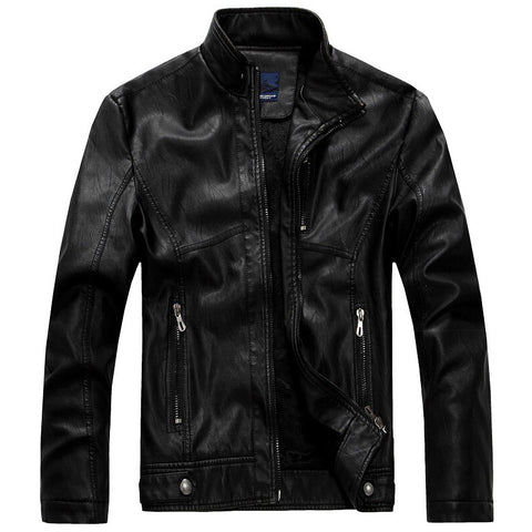 Men leather jacket made of genuine leather.
