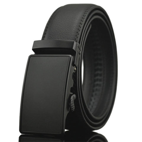 Genuine leather belts with automatic buckle.