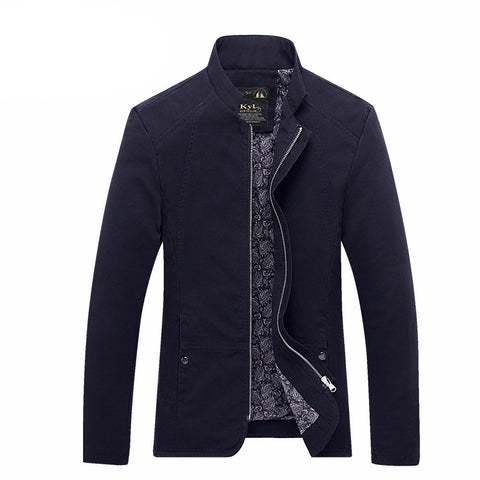 Men's jacket spring and autumn stand collar.