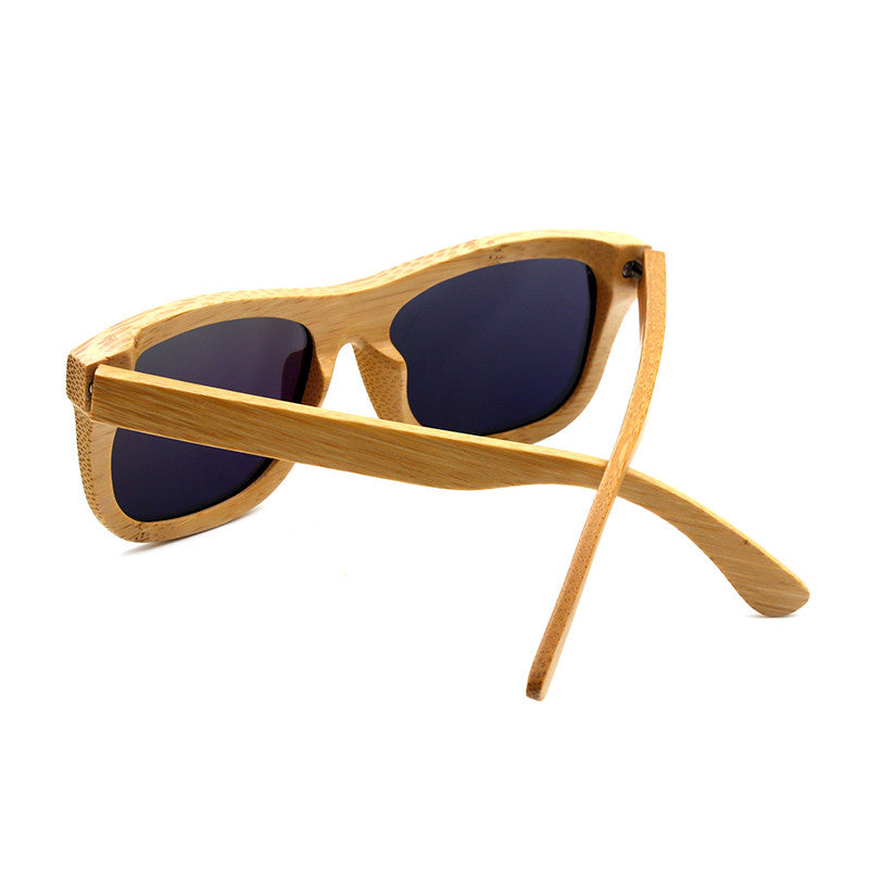 Retro Bamboo Sunglasses - Square