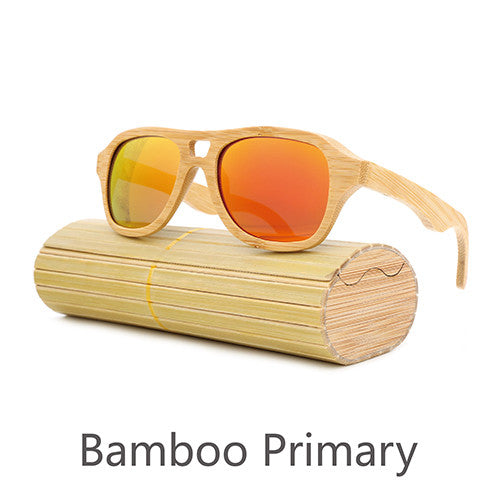 Retro Bamboo Sunglasses - Aviator