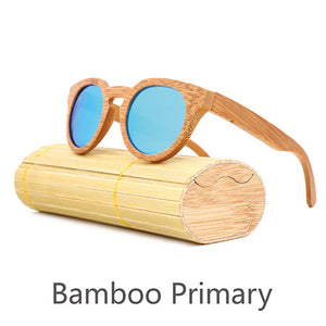 Retro Bamboo Sunglasses - Round