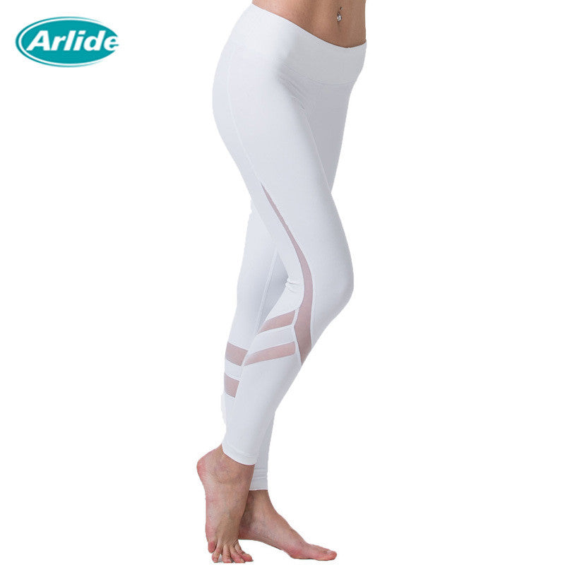 Woman Tight Mesh Yoga Leggings K-9002