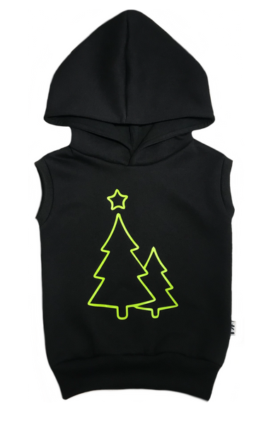 Christmas tree sleeveless hoodie
