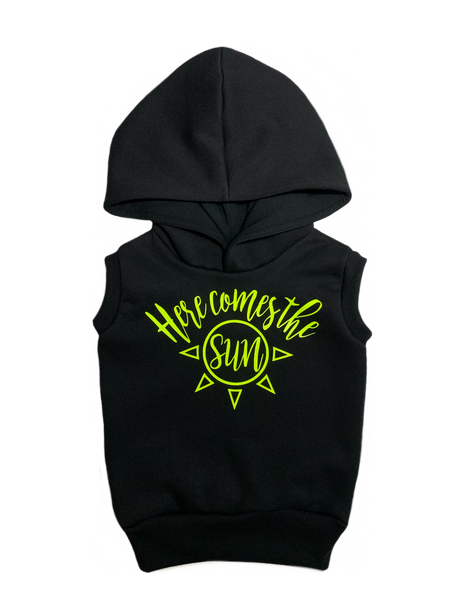 Here comes the sun sleeveless hoodie