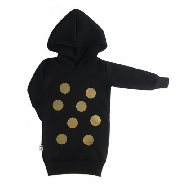 Spotty hoodie dress