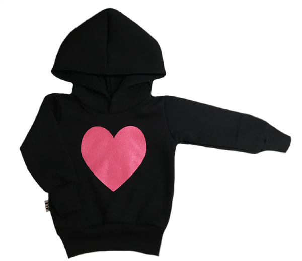 Sparkle heart hoodie