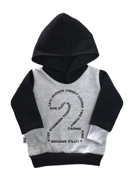 Custom birthday number hoodie