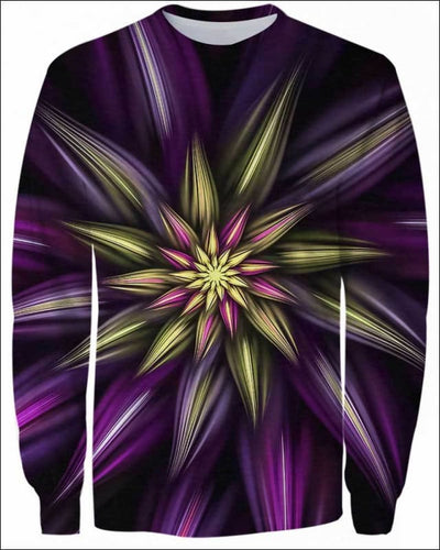 Abstract Floral - All Over Apparel - Sweatshirt / S - www.secrettees.com