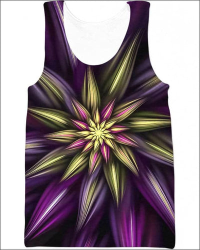 Abstract Floral - All Over Apparel - Tank Top / S - www.secrettees.com