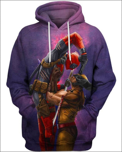 Badass Fighting - All Over Apparel - Hoodie / S - www.secrettees.com
