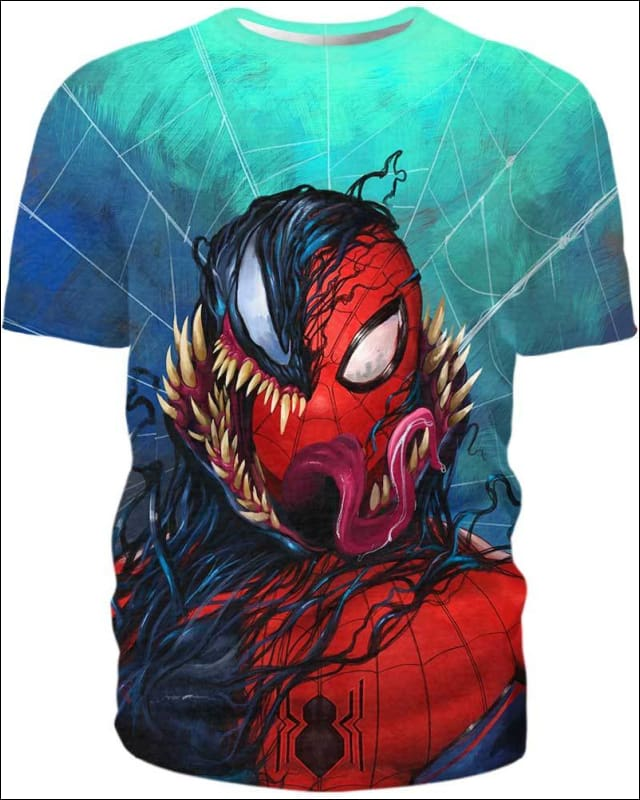 Black Spiderman - All Over Apparel - Hoodie / S - www.secrettees.com