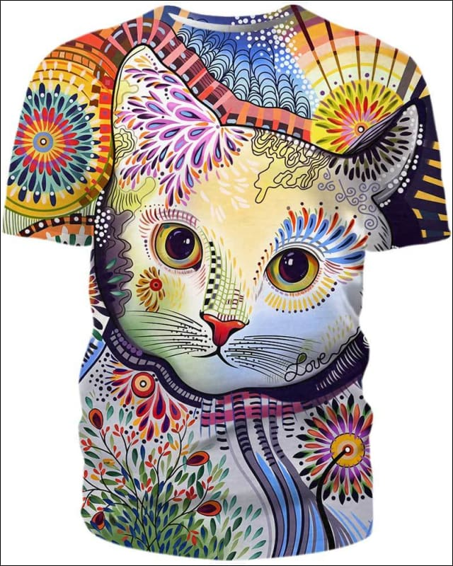 Cats Abstract Paintings - All Over Apparel - Hoodie / S - www.secrettees.com