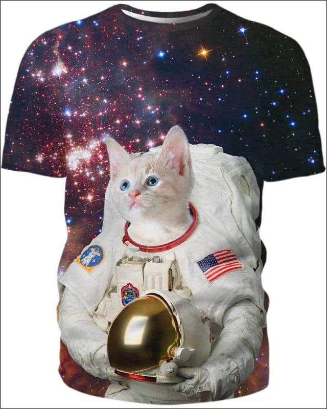 Catstronaut in Space - All Over Apparel - Hoodie / S - www.secrettees.com