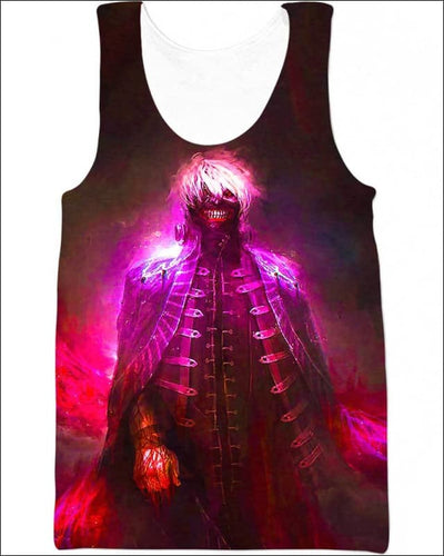 Centipede Ghost - All Over Apparel - Tank Top / S - www.secrettees.com