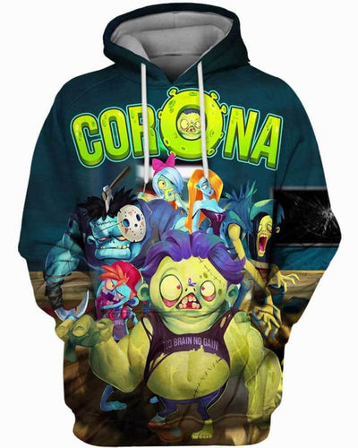 Corona Zombie - All Over Apparel - Hoodie / S - www.secrettees.com