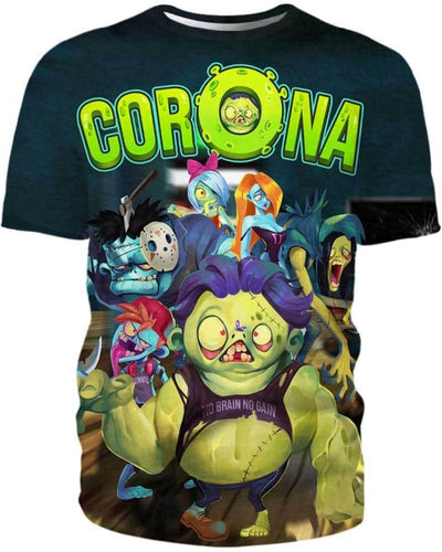 Corona Zombie - All Over Apparel - T-Shirt / S - www.secrettees.com