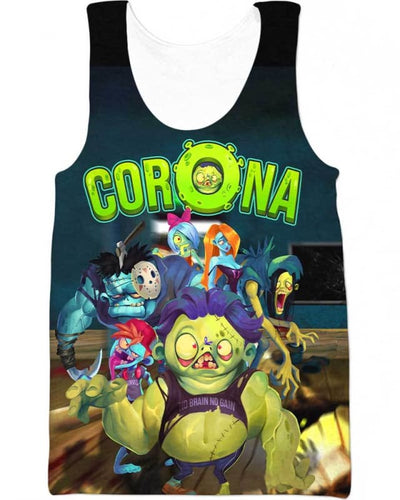 Corona Zombie - All Over Apparel - Tank Top / S - www.secrettees.com