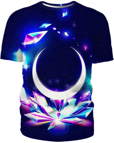 Crystal Moon - All Over Apparel - T-Shirt / S - www.secrettees.com