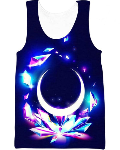 Crystal Moon - All Over Apparel - Tank Top / S - www.secrettees.com