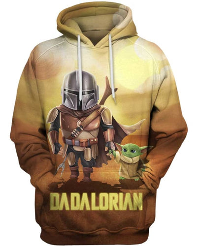 Dadalorian - All Over Apparel - Hoodie / S - www.secrettees.com