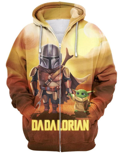 Dadalorian - All Over Apparel - Zip Hoodie / S - www.secrettees.com
