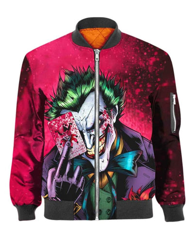 Dark Knight Joker - All Over Apparel - Bomber / S - www.secrettees.com