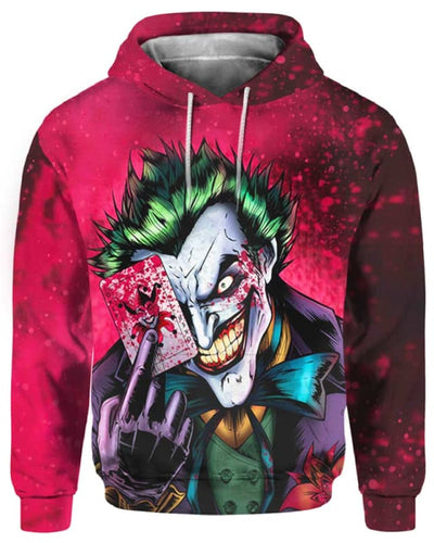 Dark Knight Joker - All Over Apparel - Hoodie / S - www.secrettees.com
