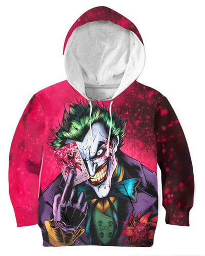 Dark Knight Joker - All Over Apparel - Kid Hoodie / S - www.secrettees.com