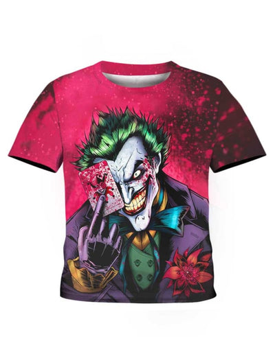 Dark Knight Joker - All Over Apparel - Kid Tee / S - www.secrettees.com