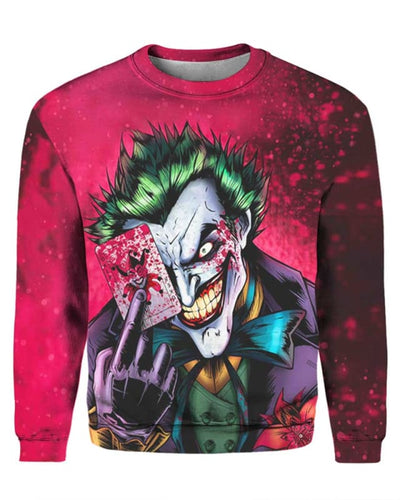 Dark Knight Joker - All Over Apparel - Sweatshirt / S - www.secrettees.com