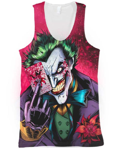 Dark Knight Joker - All Over Apparel - Tank Top / S - www.secrettees.com