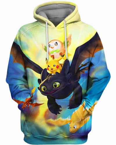 Dragon World - All Over Apparel - Hoodie / S - www.secrettees.com
