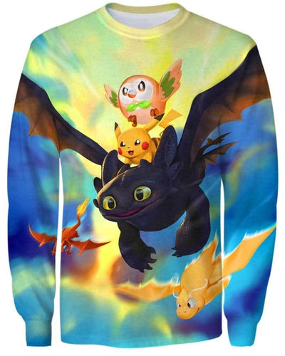 Dragon World - All Over Apparel - Sweatshirt / S - www.secrettees.com